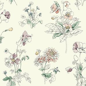 Waverly Garden Party Jewel Floral Wallpaper