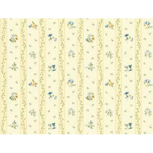 Keepsake Floral Toss Stripe Wallpaper