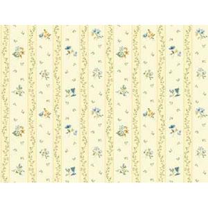 Keepsake Floral Toss Stripe Wallpaper