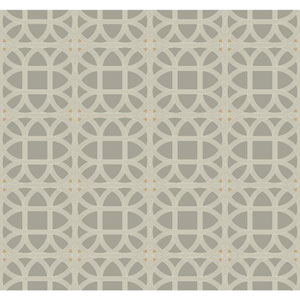 Williamsburg III Lamerie Lattice Black Removable Wallpaper