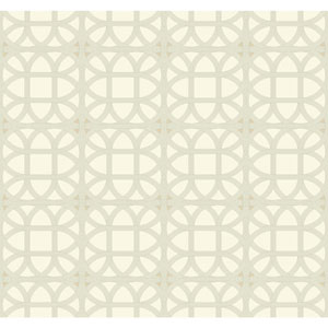 Williamsburg III Lamerie Lattice Beige Removable Wallpaper