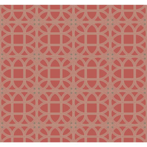 Williamsburg III Lamerie Lattice Red Removable Wallpaper