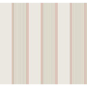 Williamsburg III Somerset Strié Stripe White and Off White Removable Wallpaper