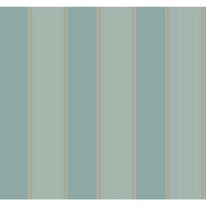 Williamsburg III Somerset Strié Stripe Blue Removable Wallpaper