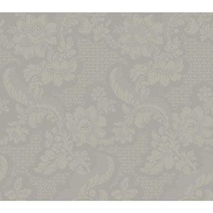 Williamsburg III Tazewell Damask Brown Removable Wallpaper