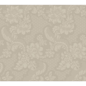 Williamsburg III Tazewell Damask Metallic Removable Wallpaper