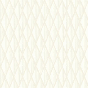 Williamsburg III Davenport Diamond White and Off White Removable Wallpaper