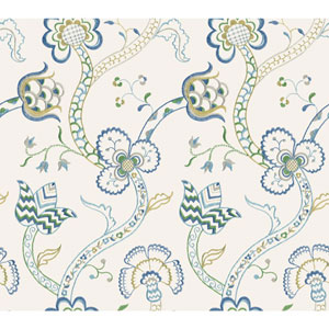 Williamsburg III Gainsborough Blue Removable Wallpaper