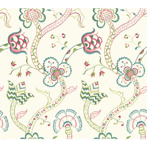 Williamsburg III Gainsborough Pink Removable Wallpaper