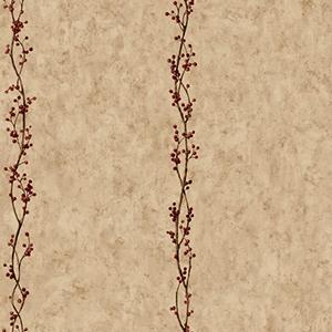 Inspired by Color Khaki Rose Hip Stripe Wallpaper