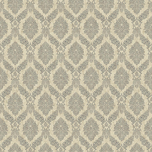Tailored Beige Damask Wallpaper