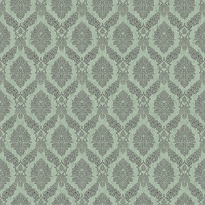Tailored Blue Damask Wallpaper