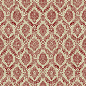 Tailored Red Damask Wallpaper