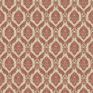 Tailored Red Damask Wallpaper