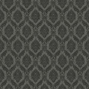 Tailored Gray Damask Wallpaper