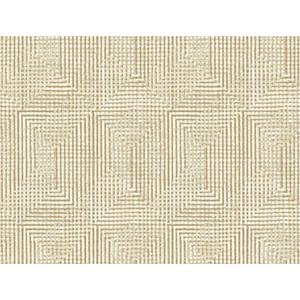 Tailored Beige Weave Wallpaper