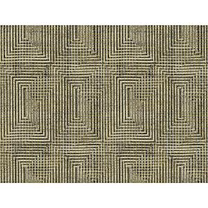 Tailored Brown Metallic Weave Wallpaper