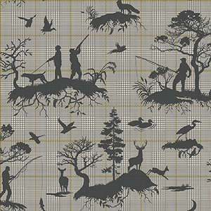 Tailored Gray Toile Wallpaper