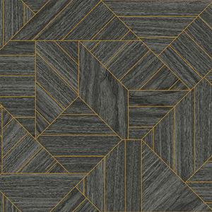 Tailored Black Geometric Wallpaper