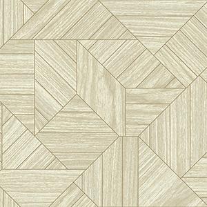 Tailored Beige Geometric Wallpaper