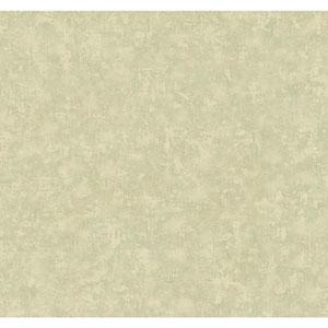 Handpainted III Aqua and Pale Grey Crackle Wallpaper