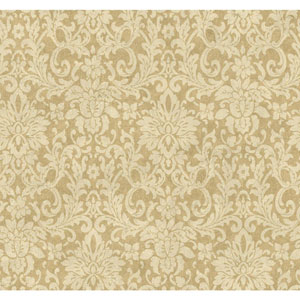Handpainted III Bronze Floral Damask Wallpaper