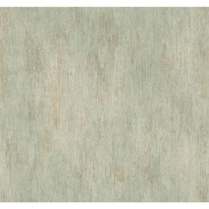 Handpainted III Grey and Aqua Classic Fleur De Lis Wallpaper