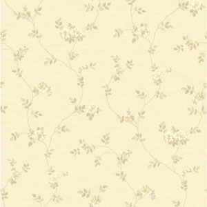 Opal Essence Beige and Ecru Small Vine Wallpaper