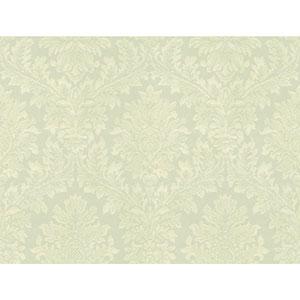 Opal Essence Aqua Tapestry Damask Wallpaper