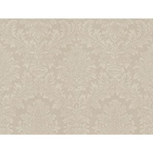 Opal Essence Taupe Tapestry Damask Wallpaper