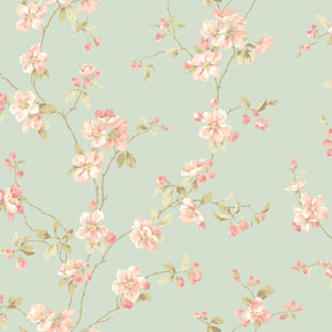 Opal Essence Light Blue Apple Blossom Wallpaper