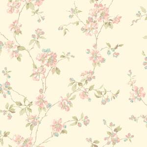 Opal Essence Off-White Apple Blossom Wallpaper