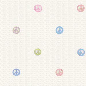 Friends Forever Light Pastels Peace Sign Wallpaper