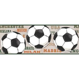 Friends Forever Beige He Scores Soccer Border