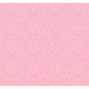 Friends Forever Light Pink Glitter Scroll Wallpaper