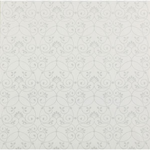Friends Forever White Glitter Scroll Wallpaper