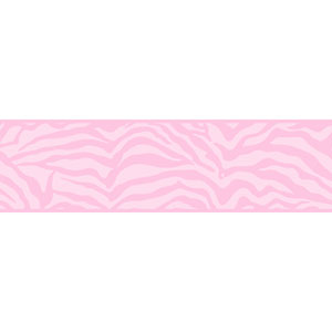Friends Forever Pink Girly Glam Zebra Border
