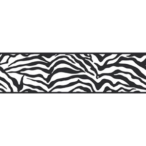 Friends Forever Black Girly Glam Zebra Border