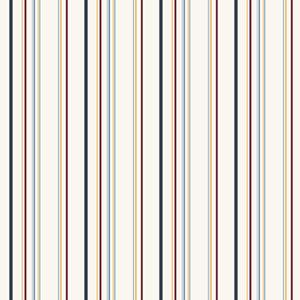 Friends Forever Primaries On White Multi Stripe Wallpaper