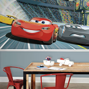 Disney Pixar Cars 3 XL Chair Rail Prepasted Mural