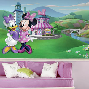 Minnie Mouse Happy Helpers XL Chair Rail Prepasted Mural