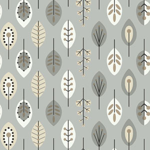Bistro 750 Retro Leaves Wallpaper
