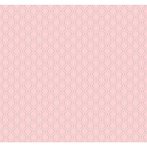 Cool Kids Pale Blush Pink and Silver Frost Glitter Trellis Wallpaper