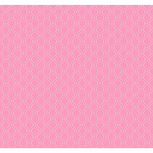 Cool Kids Strawberry Shake and Silver Frost Glitter Trellis Wallpaper