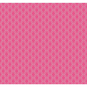 Cool Kids Raspberry Red and Silver Frost Glitter Trellis Wallpaper