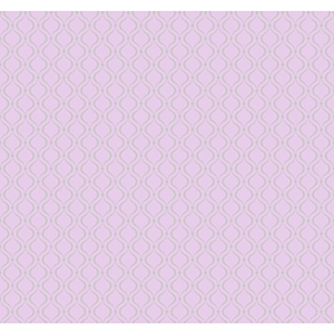 Cool Kids Lavender and Silver Frost Glitter Trellis Wallpaper