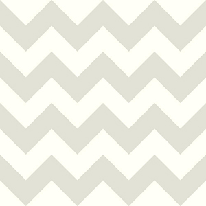 Cool Kids Snow and Pale Grey Chevron Wallpaper