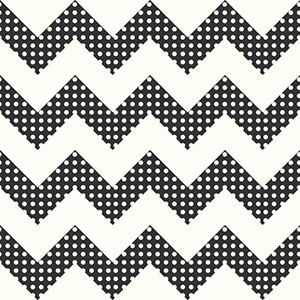 Cool Kids Snow and Licorice Chevron Wallpaper