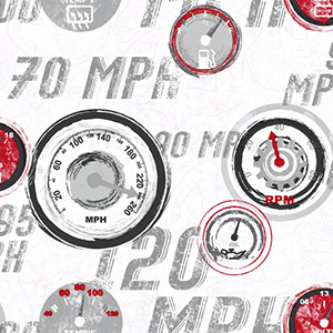 Cool Kids White, Grey, Red and Black Race Car Gauges Wallpaper