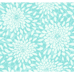 Cool Kids Robins Egg, Aquamarine and Icy Silver Toss The Bouquet Wallpaper